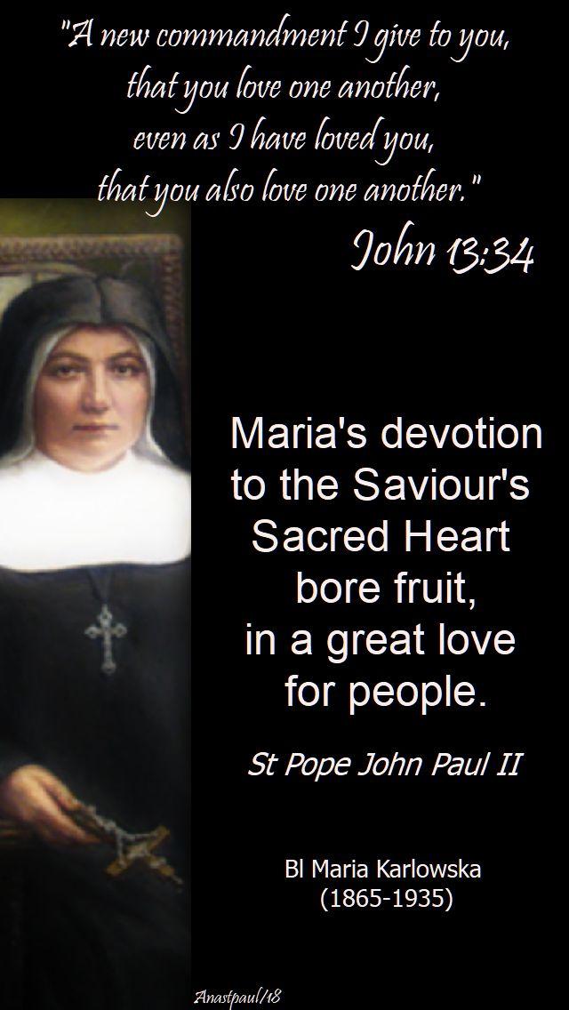 her devotion to the saviour's sacred heart - st john paul on bl maria karlowska - 6 april 2018