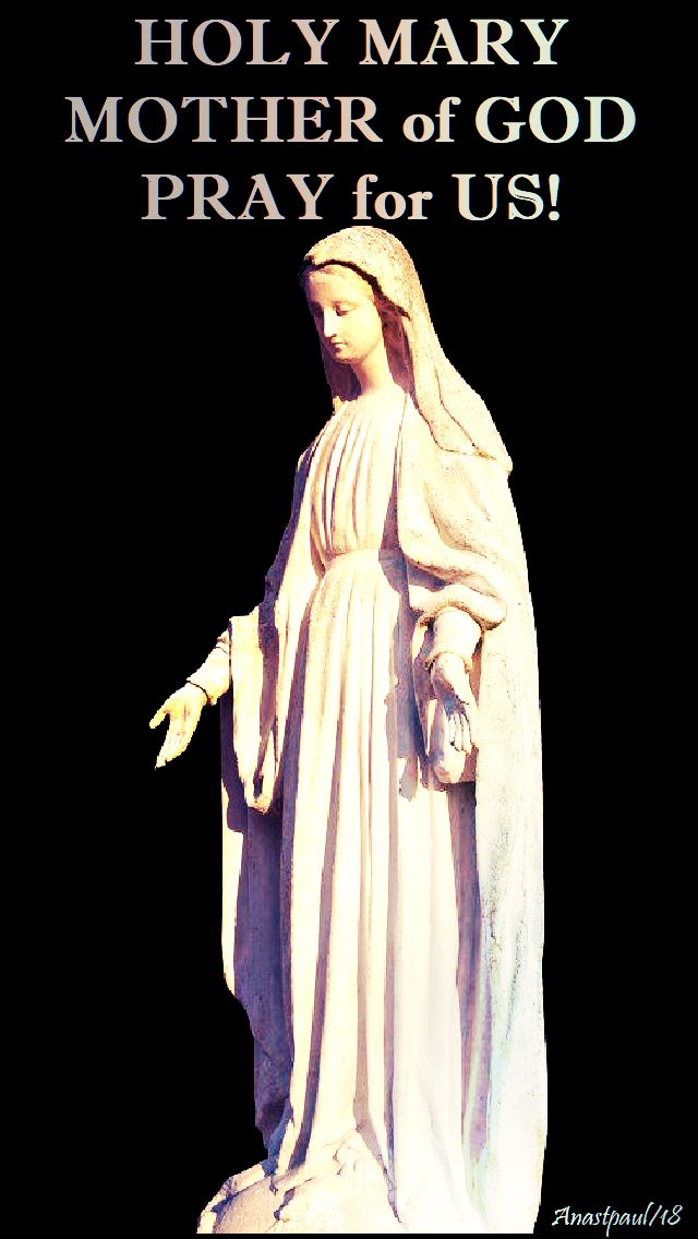 holy mary mother of god pray for us - 9 jan 2018