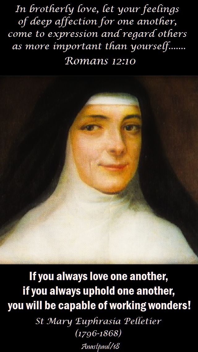 if you always love another - st mary euphrasia pelletier - 24 april 2018