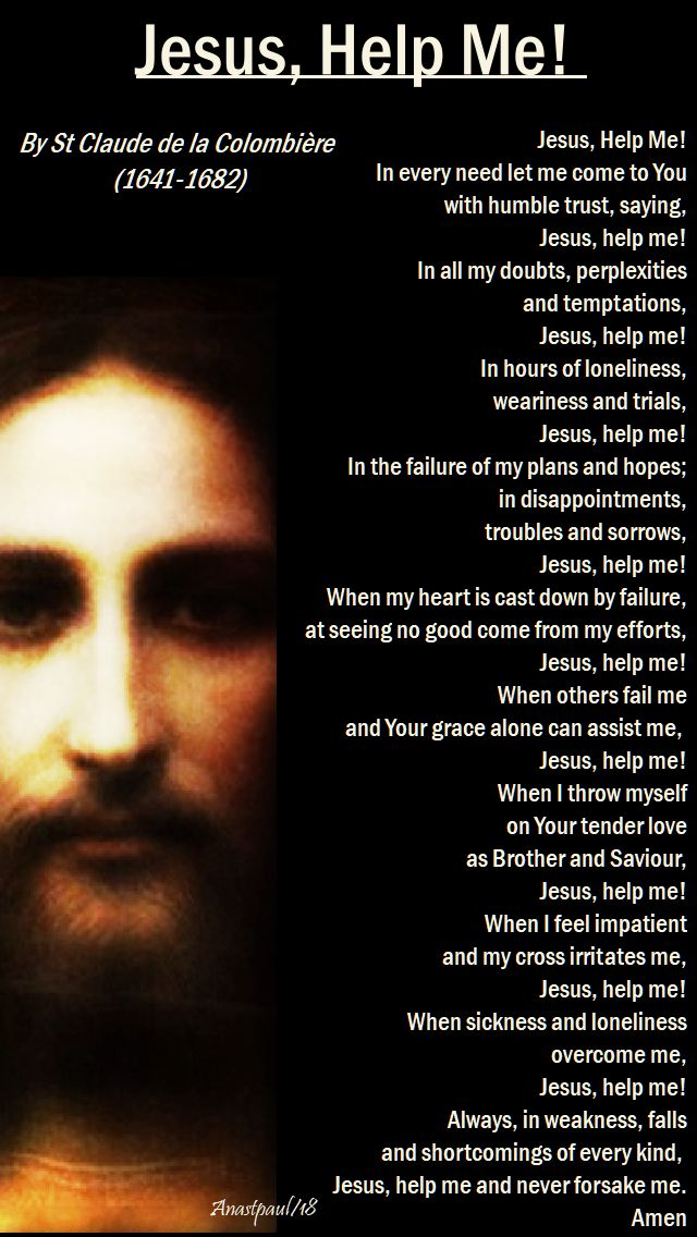 jesus help me by st claude de la colombiere - 20 april 2018