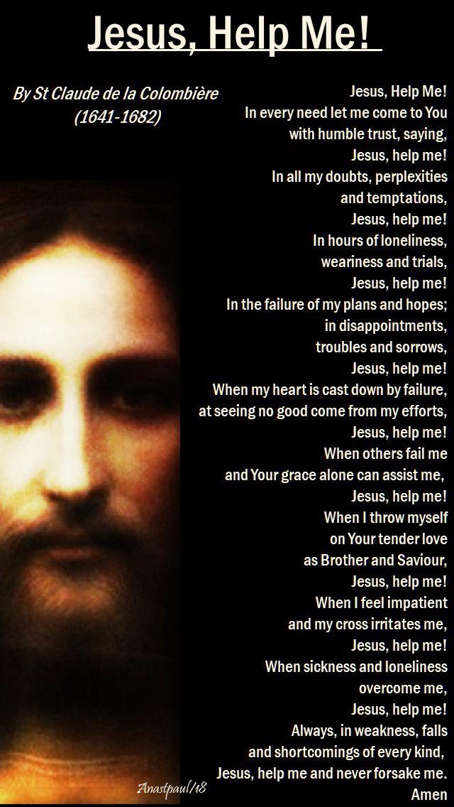 jesus help me by st claude de la colombiere - 20 april 2018