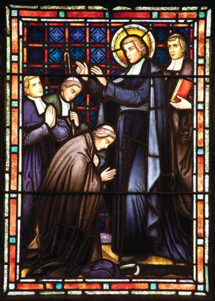 Life of St. John Baptiste de la Salle in stained glass
