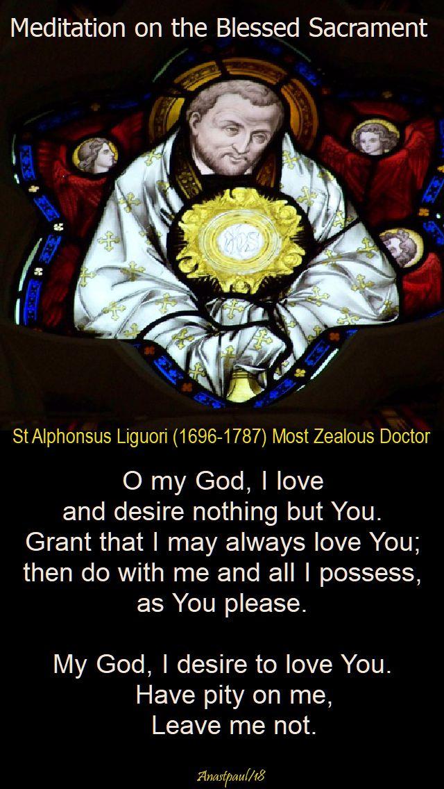 meditation on the blessed sacrament - st alphonsus liguori - 17 april 2018