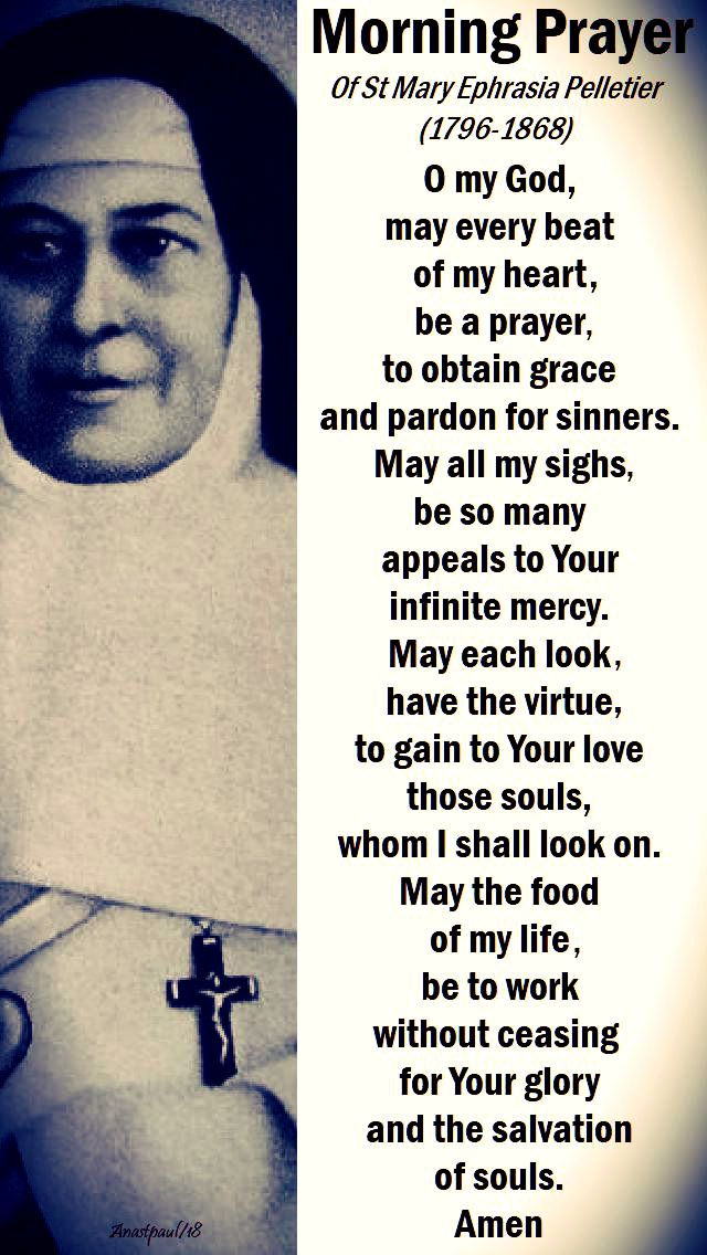 morning prayer of st mary euphrasia pelletier - 24 april - o my god, may every beat of my heart. no. 2. jpg