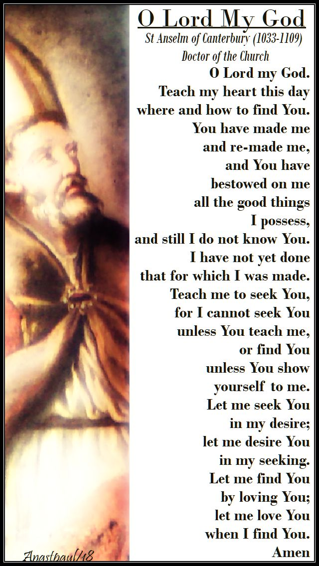 o lord my god - st anselm - 13 april 2018