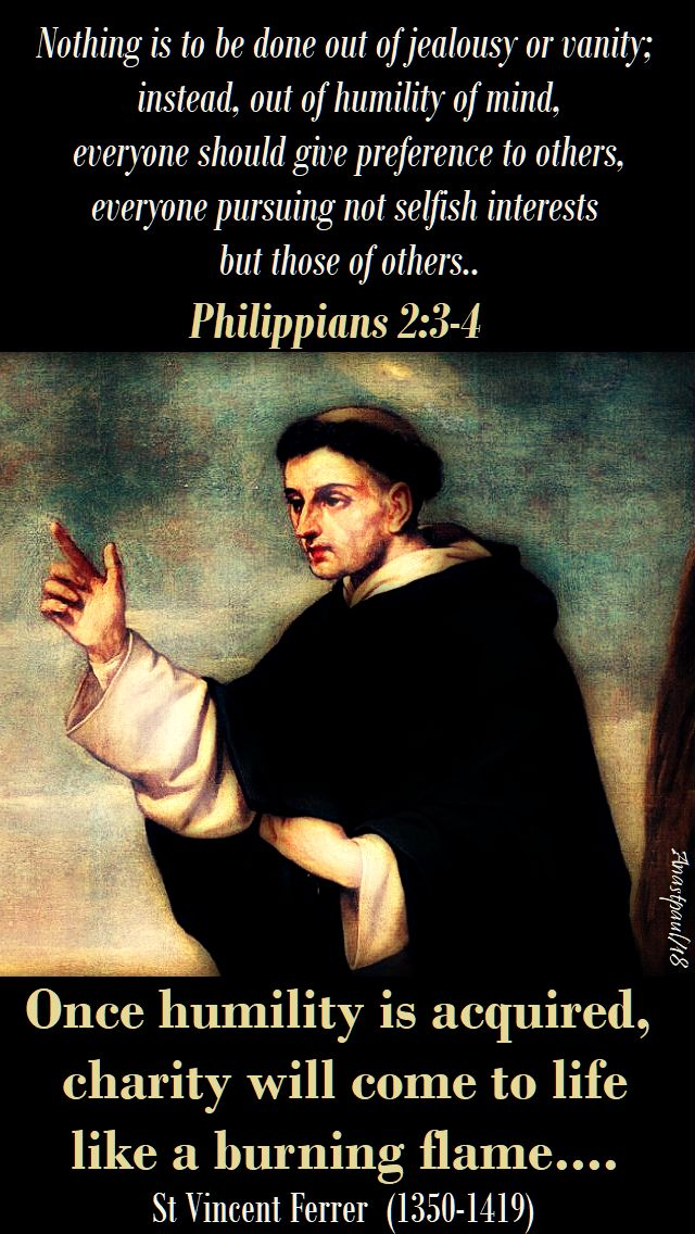 once humility is acquired - st vincent ferrer - 5 april 2018