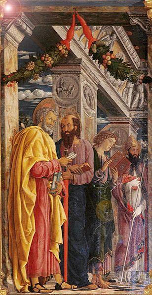 San Zeno Altarpiece. Zeno is on the far right.