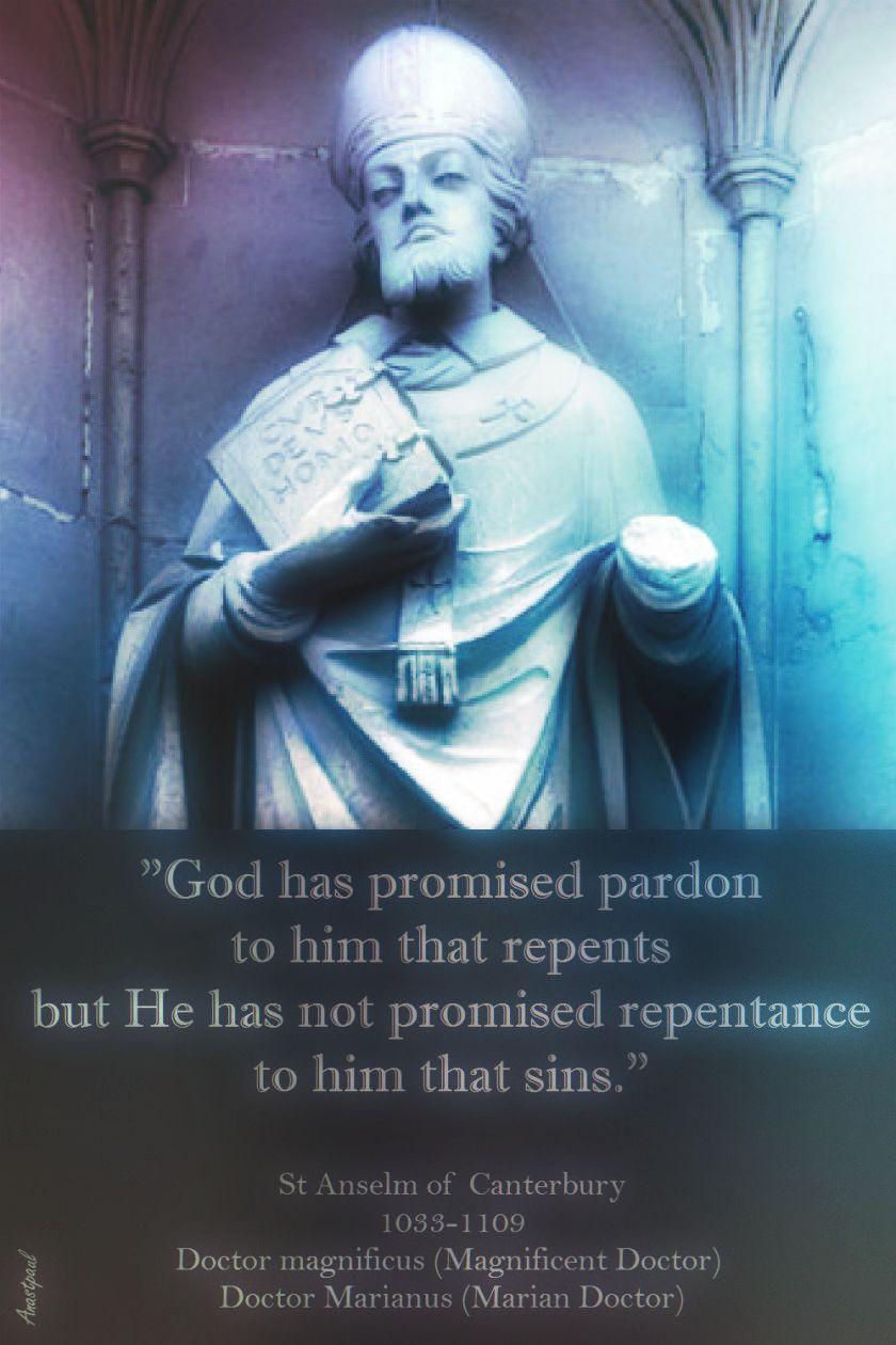 st-anslem-god-has-promised-pardon.-21 april 2017