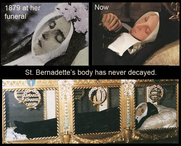 St. Bernadette -at Death & Today