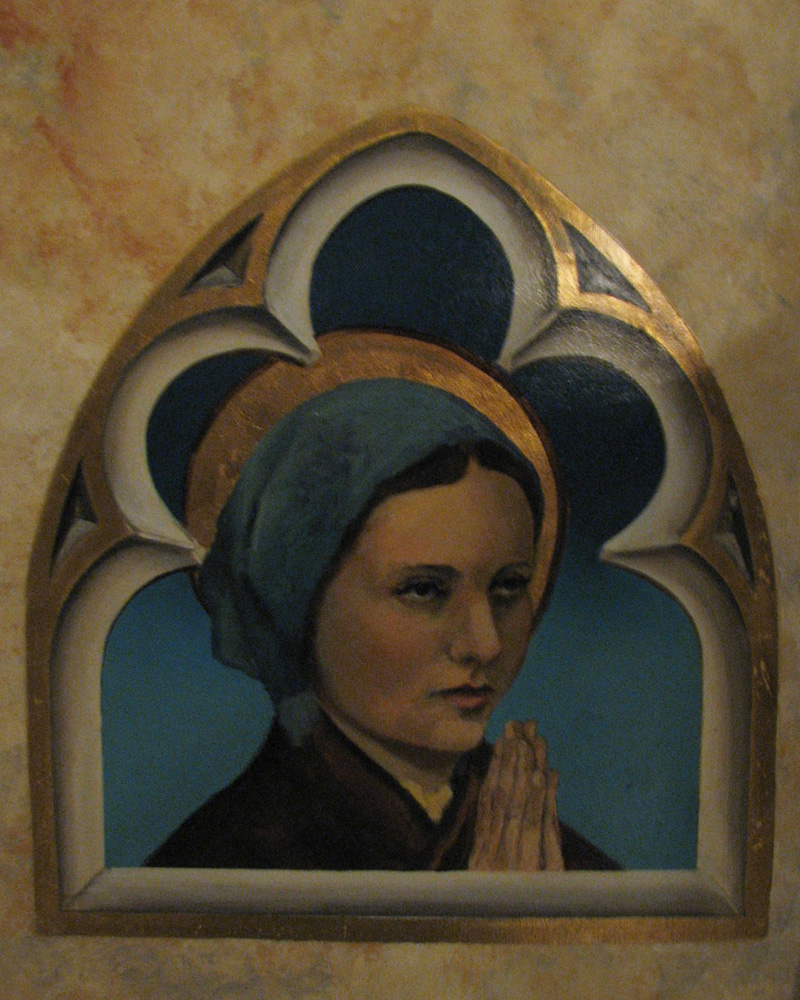 st bernadette in art
