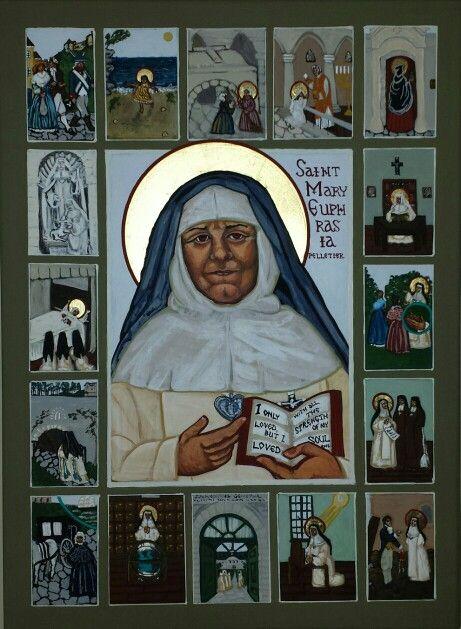 st mary euphrasia-holy card and info