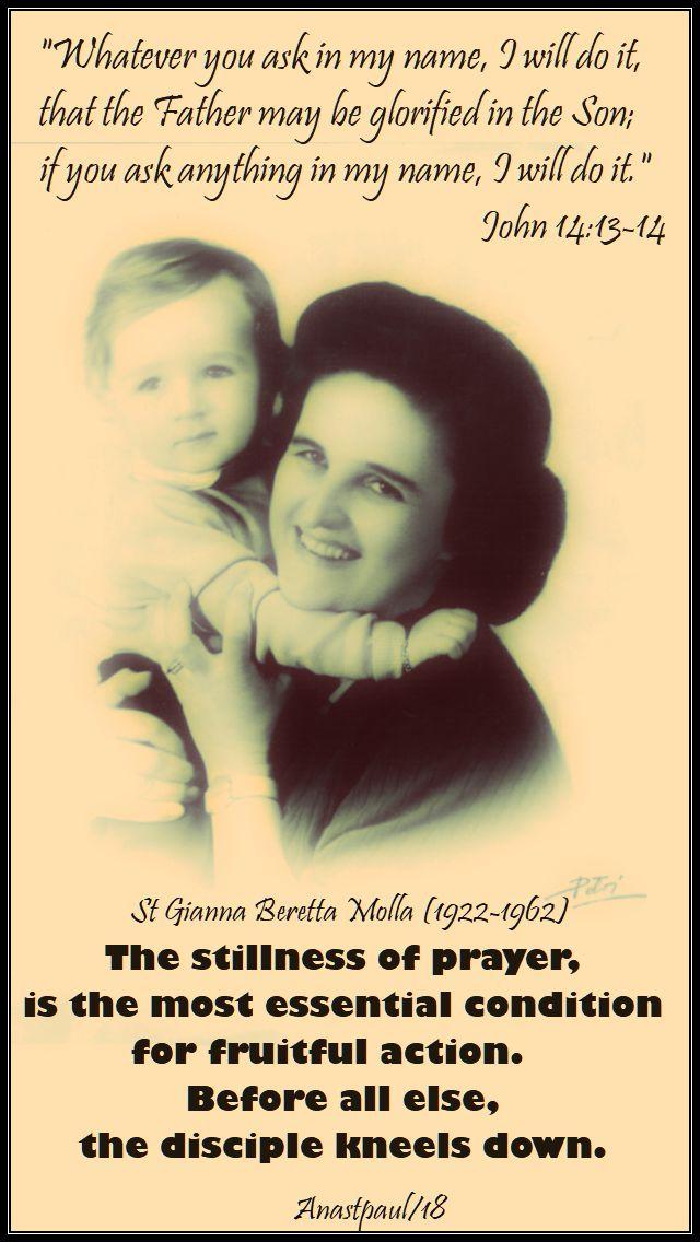 St gianna prayer
