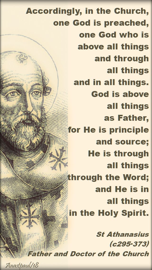accordingly, in the church - st athanasius - 2 may 2018