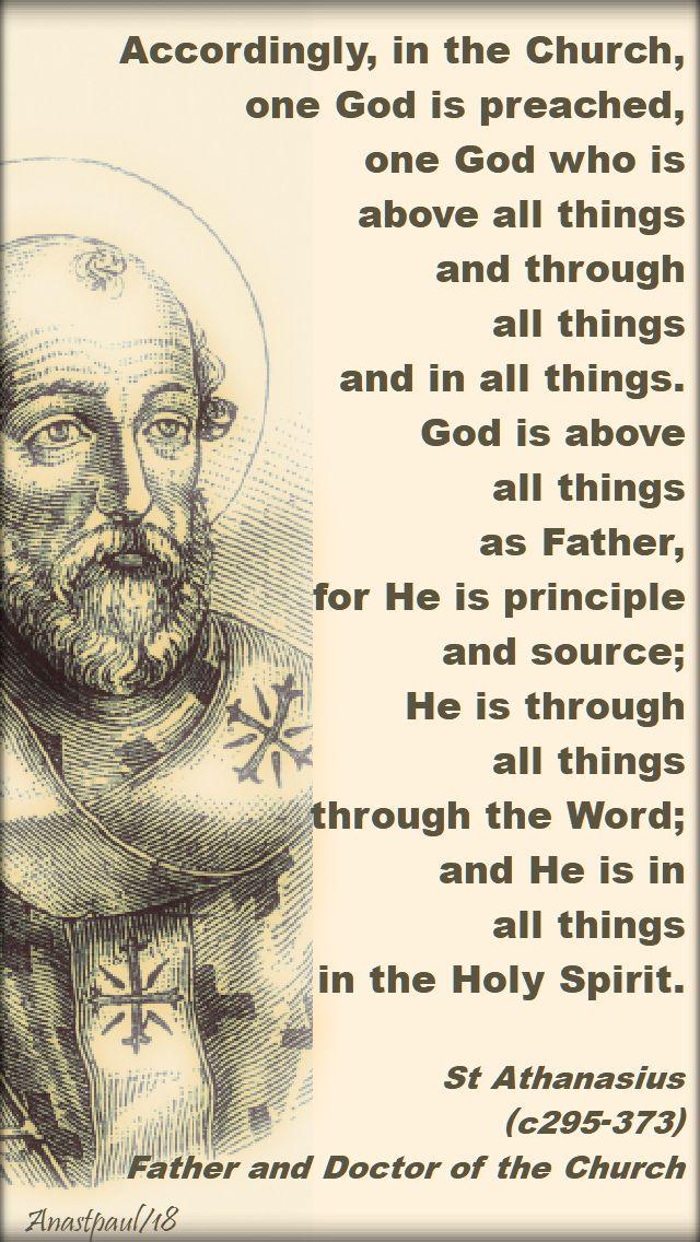 accordingly, in the church - st athanasius - 2 may 2018
