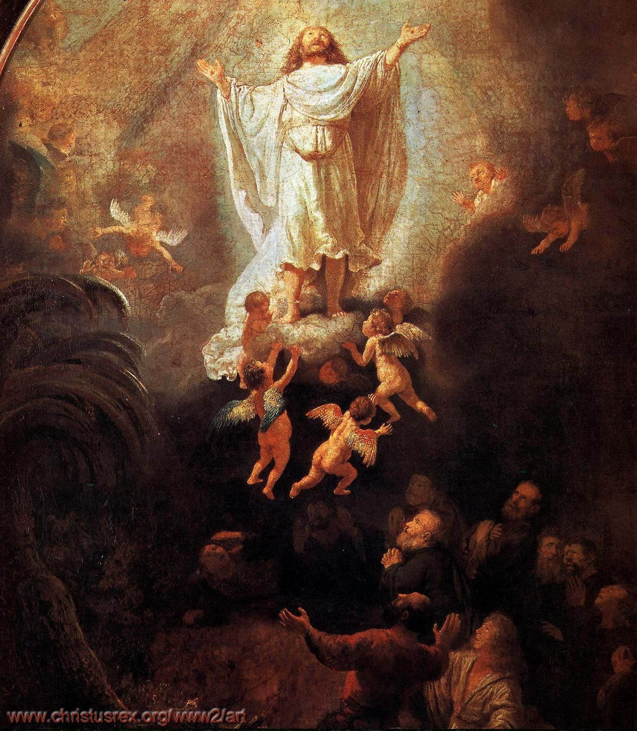 Ascension of Christ, Rembrandt Van Rijn