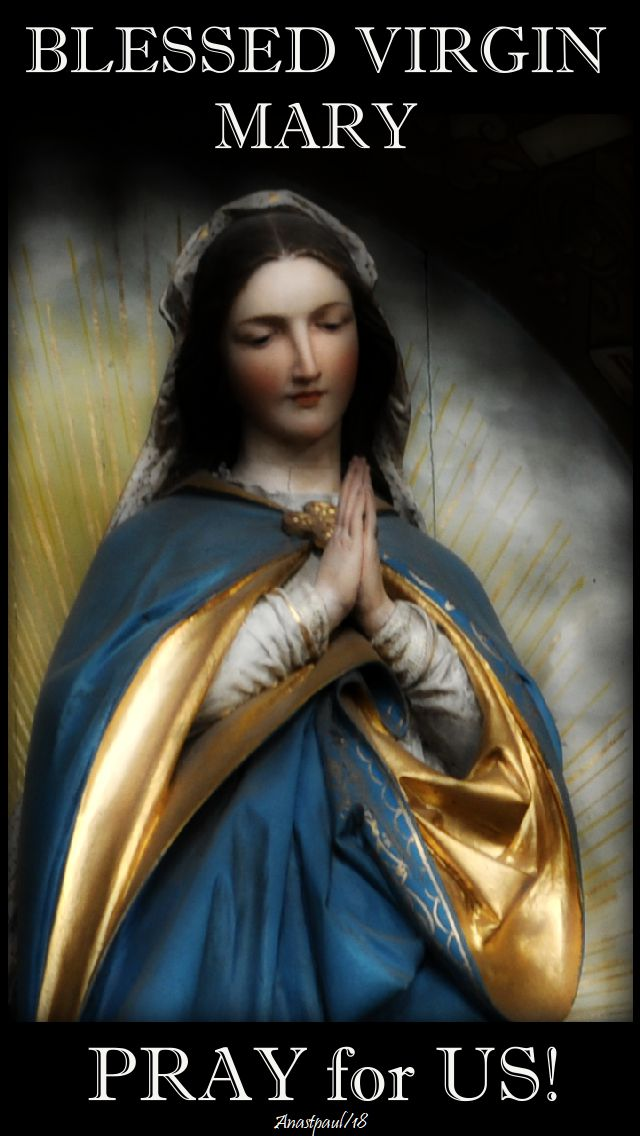 blessed virgin mary - pray for us - 25 may 2018