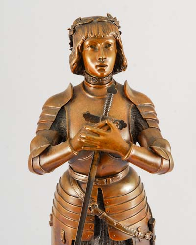 bronze statue st joan