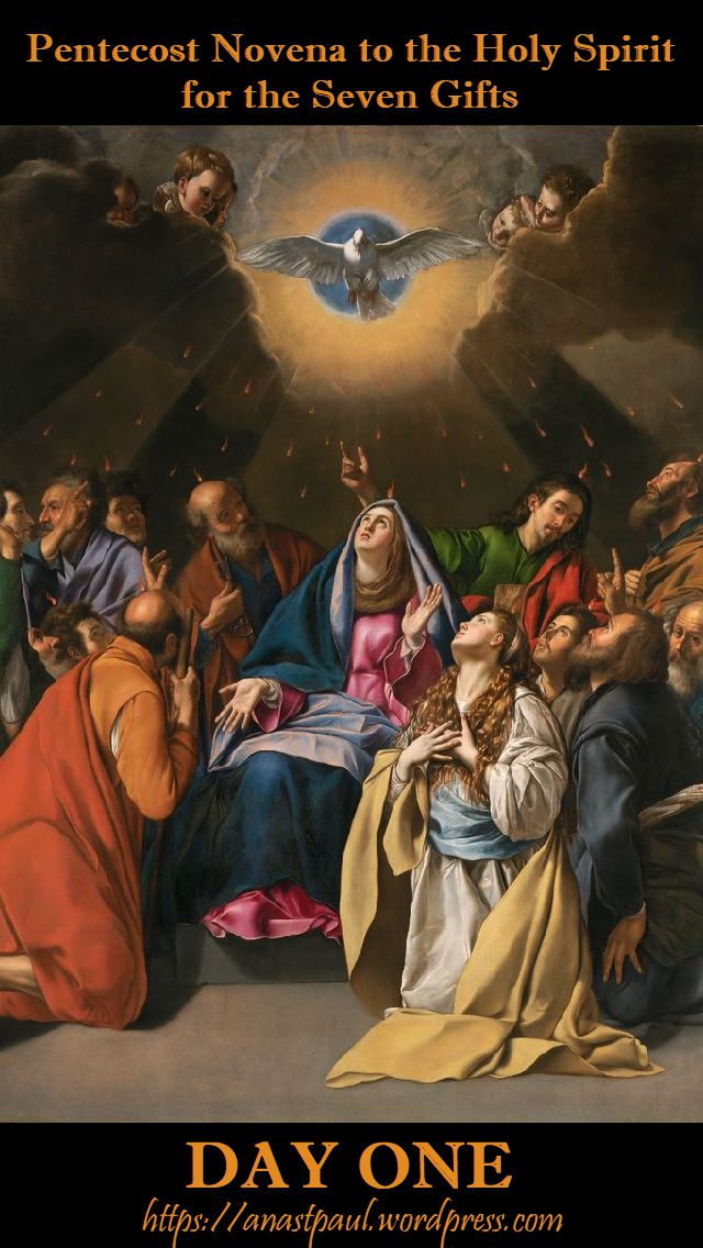 day one - pentecost novena - 11 may 2018