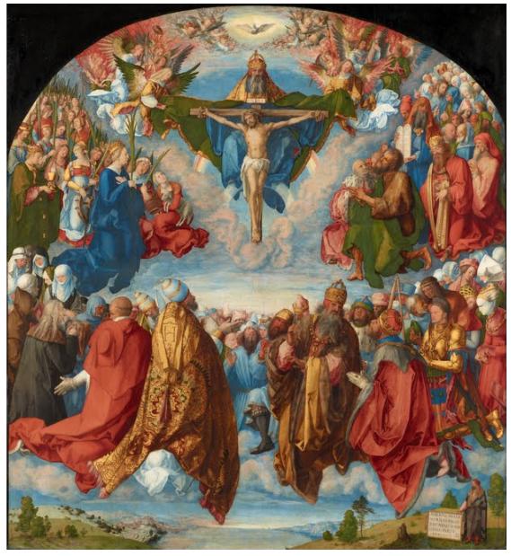 Dürer, 1511. holy trinity