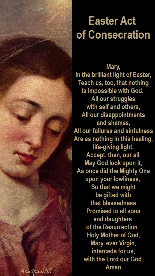 easter act of consecration to mary - 9 may 2018