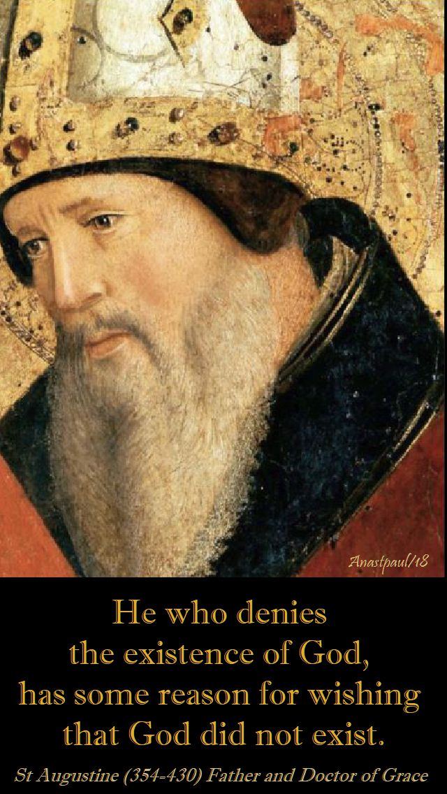 he who denies - st augustine - 3 may 2018