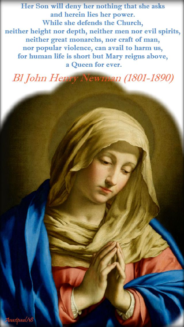 her son will deny her nothing - bl john henry - mary virgo potens - 28 may 2018