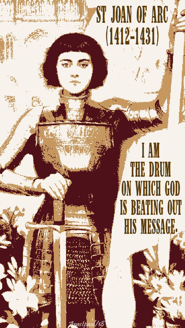 i am the drum - st joan of arc - 30 may 2018