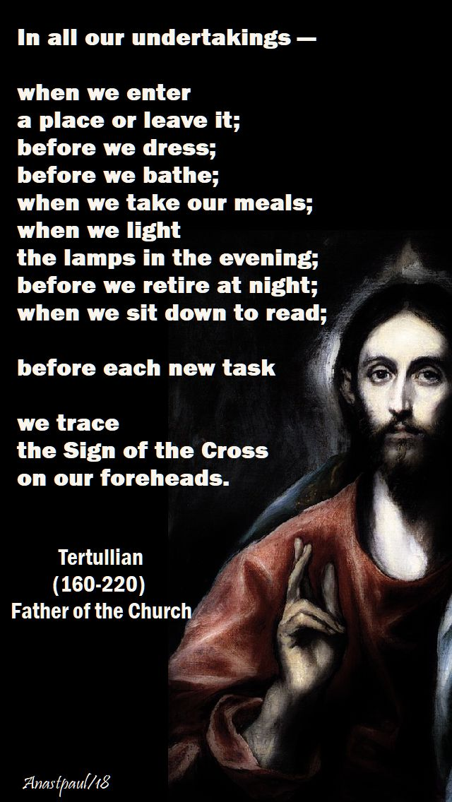 in all our undertakings - tertullian - 27 may 2018 - trinity sunday