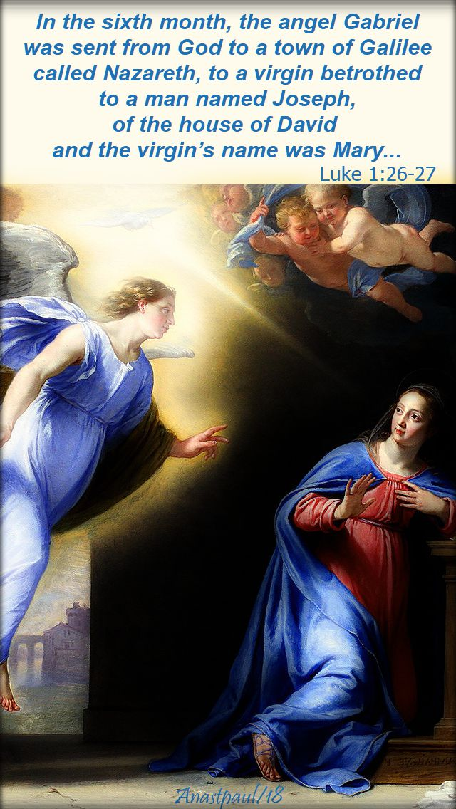 in the sixth month the angel Gabriel - luke 1 26-27 - 1 may 2018
