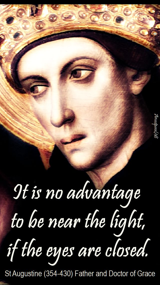 it is no advantage - st augustine - 3 may 2018