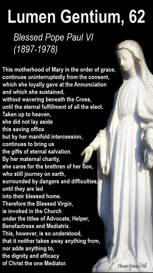 The Blessed Virgin Mary, our Mother!