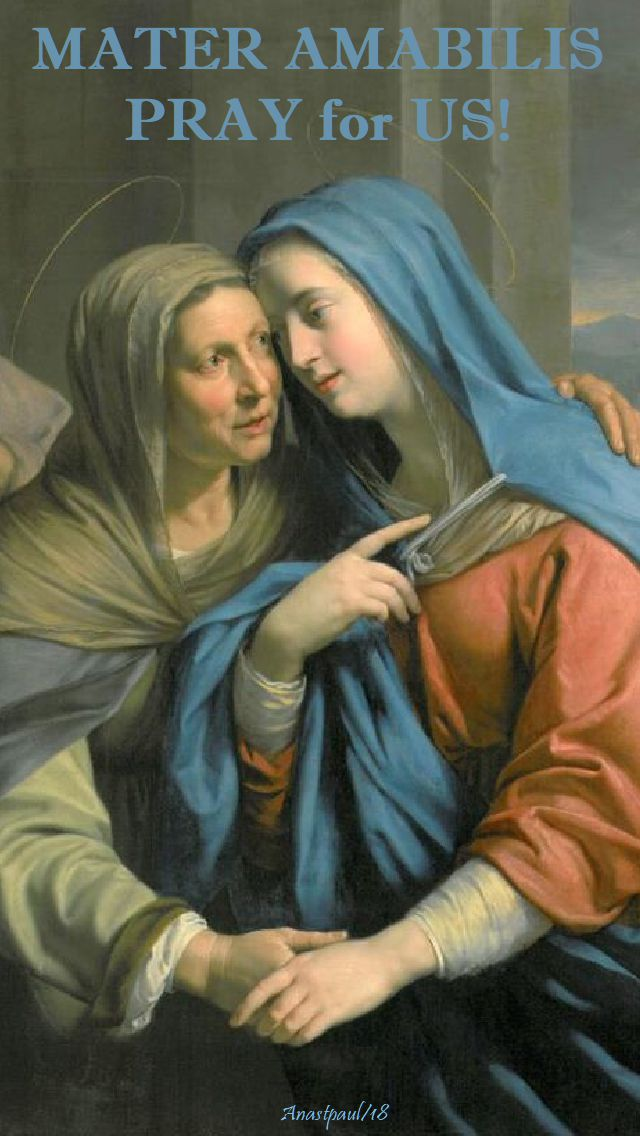 mater amabilis - lovable mother - dear mother - the visitation - pray for us - 7 may 2018