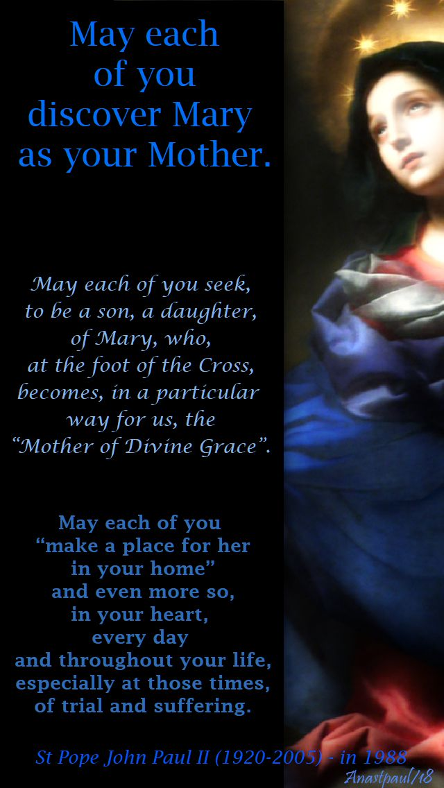may each of you (on mary) - st pope john paul - 29 may 2018