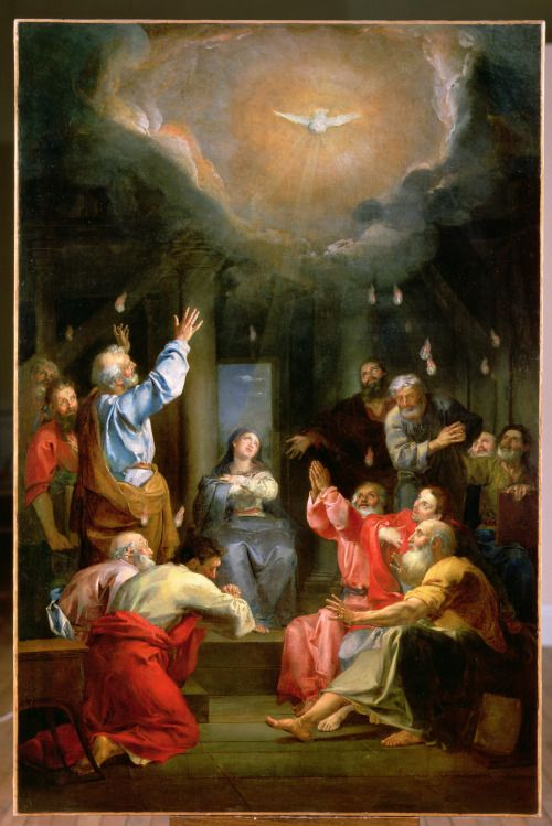 pentecost - The Descent of the Holy Ghost by Louis Galloche ""