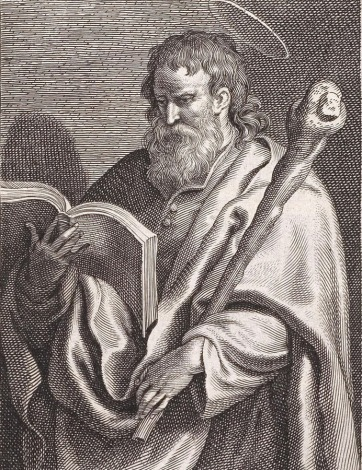 Saint James the Lesser engraving by Schelte a Bolswert (17th century) after Gerard Seghers