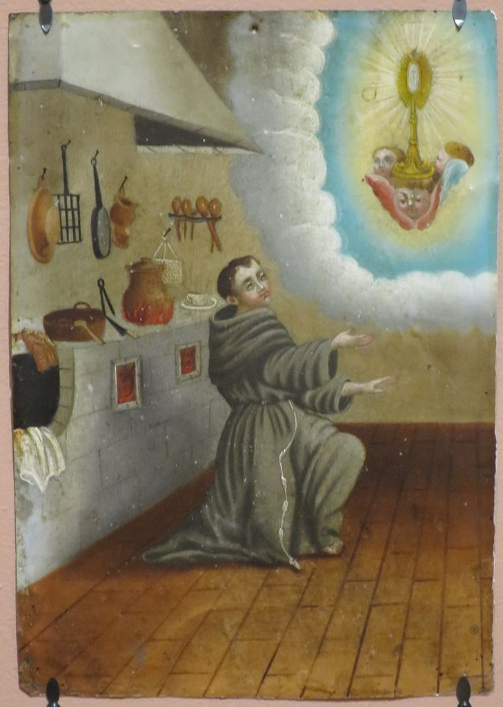 'Saint_Paschal_Baylon',_anonymous_Mexican_retablo,_oil_on_tin,_mid_19th_century,_El_Paso_Museum_of_Art