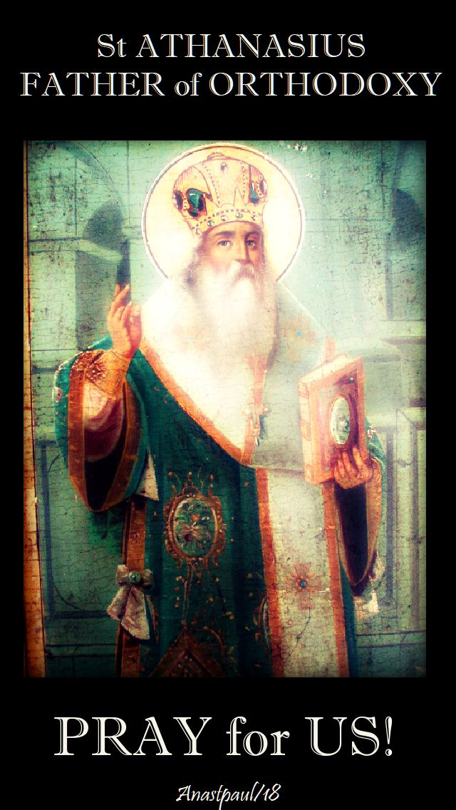 st athanasius pray for us - 2 may 2018