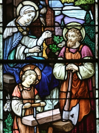 st joseph the worker - glass