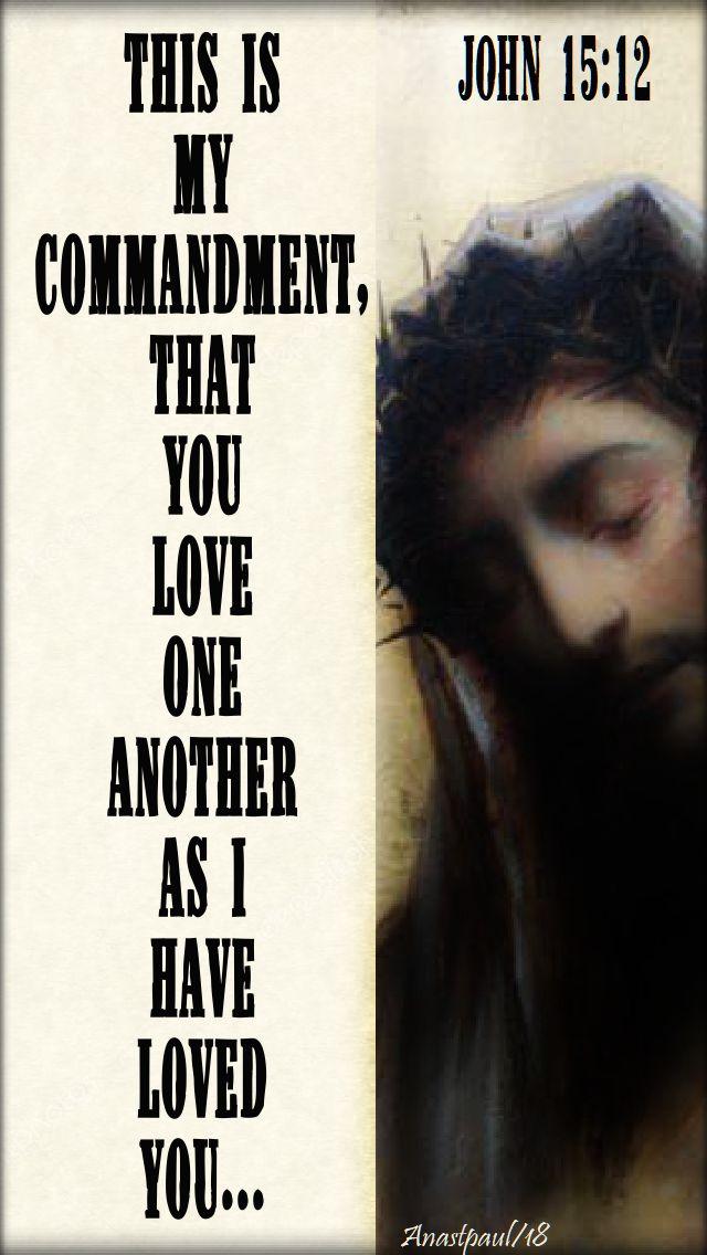 this is my commandment - john 15 12