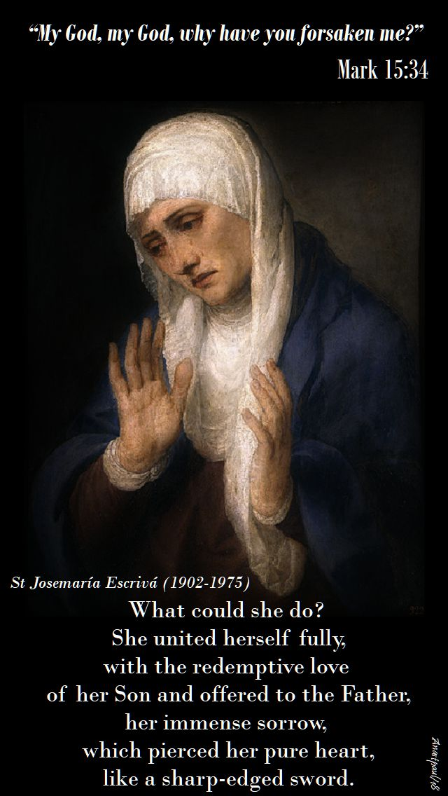what could she do - she united herself - st josemaria - 17 may 2018