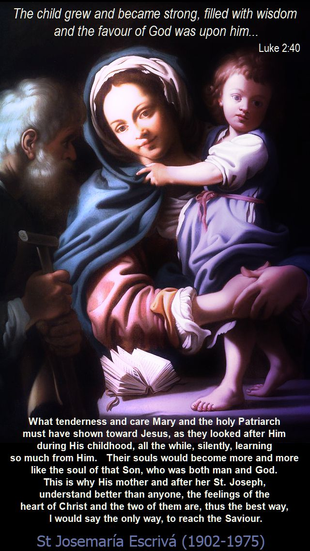 what tenderness and care - st josemaria - 13 may 2018