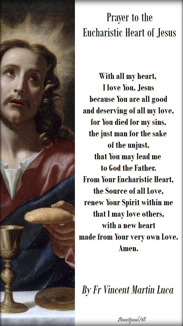 with all my heart I love you Jesus - by fr vincent martin luca - 6th sunday of easter B - 6 may 2018