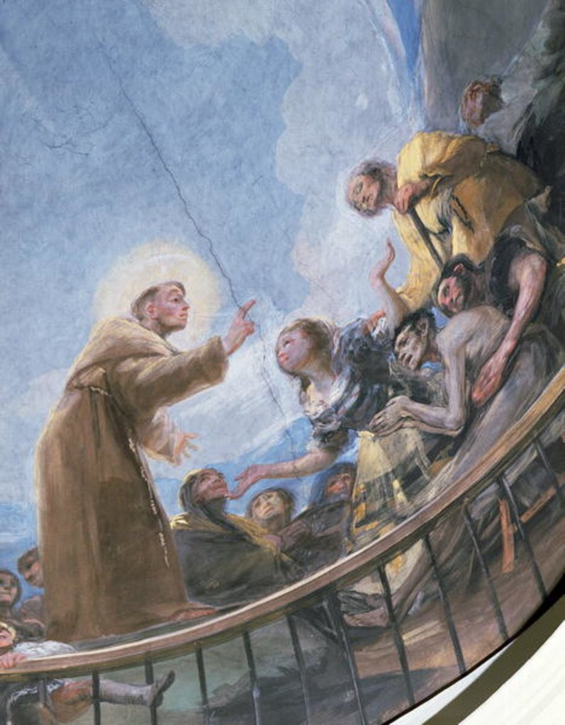St. Anthony Preaching, detail from the Miracle of St. Anthony of Padua, from the cupola, 1798 (fresco)