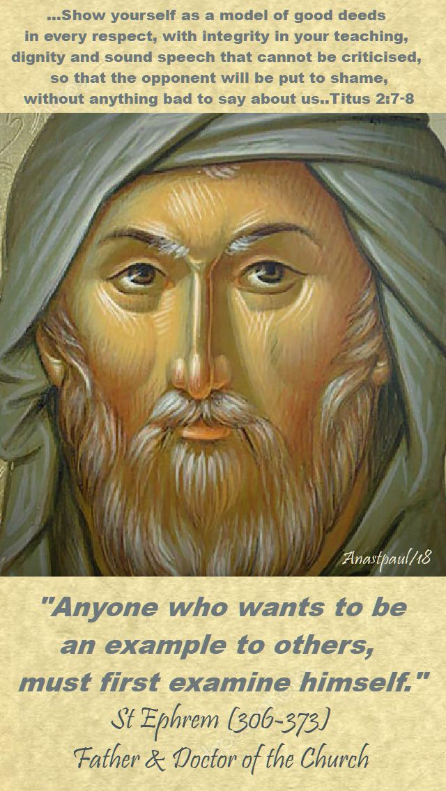 anyone who wants - st ephrem - 2 titus 7-8