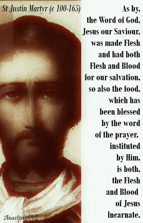 as by the word of god - st justin martyr - 1 june 2018