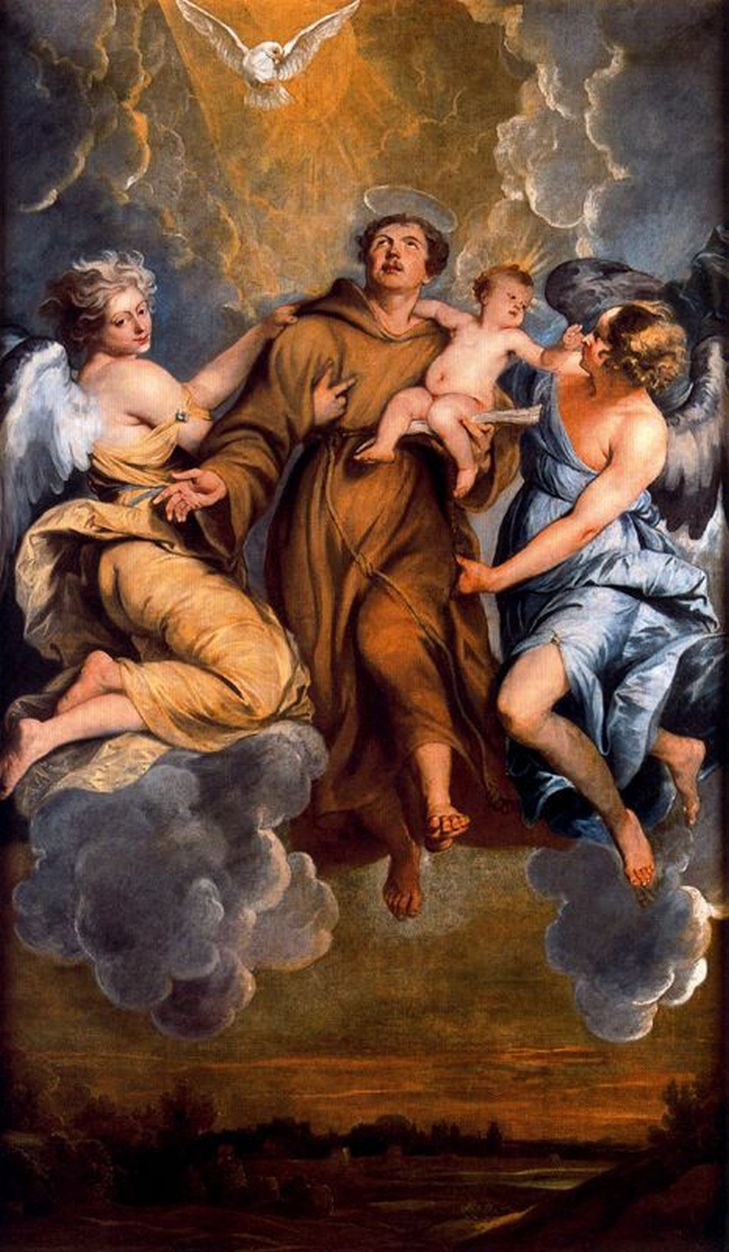 Assumption-of-St.-Anthony-of-Padua-Thomas-Willeboirts-Bosschaert-Oil-Painting