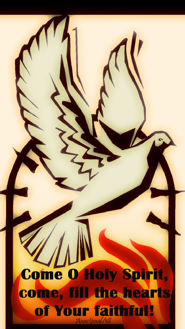 come o holy spirit come fill the hearts of your faithful - 11 june 2018