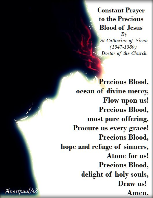 constant prayer to the precious blood - st catherine of siena - 1 july 2018