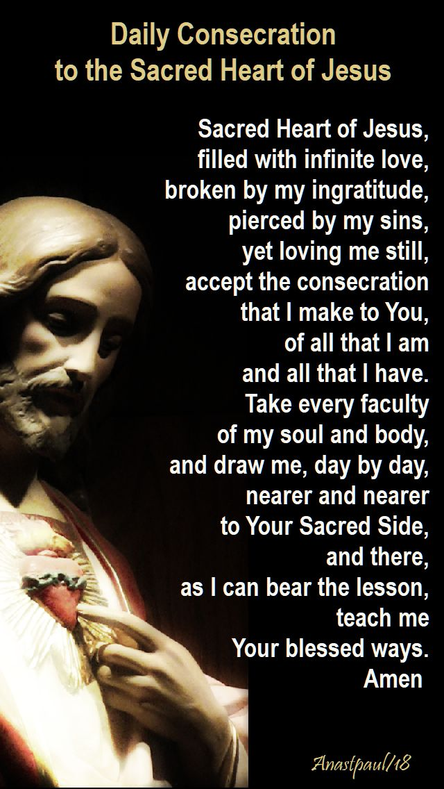 daily consecration to the sacred heart of jesus - 8 june 2018