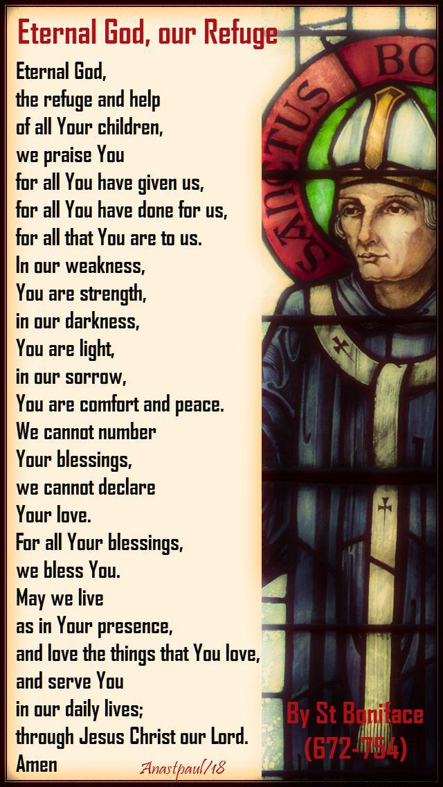 eternal god our refuge - st boniface - 5 june 2018